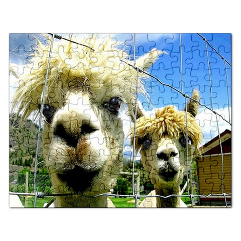 Enhanced Lamas : Puzzell By Pamela Sue Goforth   Jigsaw Puzzle (rectangular)   Dipomy05l20u   Www Artscow Com Front
