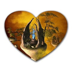 The Forgotten World In The Sky Heart Mousepads by FantasyWorld7