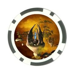 The Forgotten World In The Sky Poker Chip Card Guards by FantasyWorld7