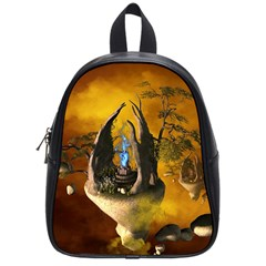 The Forgotten World In The Sky School Bags (small)  by FantasyWorld7
