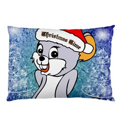 Funny Cute Christmas Mouse With Christmas Tree And Snowflakses Pillow Cases by FantasyWorld7