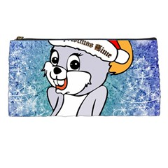 Funny Cute Christmas Mouse With Christmas Tree And Snowflakses Pencil Cases by FantasyWorld7