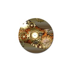 Steampunk, Wonderful Steampunk Design With Clocks And Gears In Golden Desing Golf Ball Marker (10 Pack) by FantasyWorld7