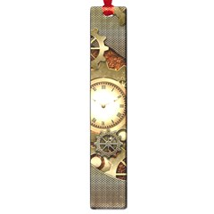Steampunk, Wonderful Steampunk Design With Clocks And Gears In Golden Desing Large Book Marks by FantasyWorld7