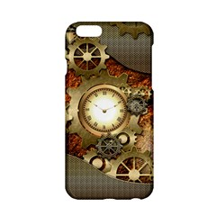 Steampunk, Wonderful Steampunk Design With Clocks And Gears In Golden Desing Apple Iphone 6/6s Hardshell Case by FantasyWorld7