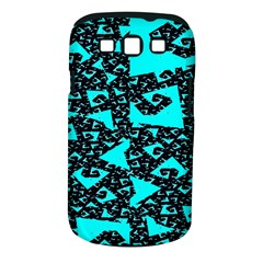 Teal On Black Funky Fractal Samsung Galaxy S Iii Classic Hardshell Case (pc+silicone) by KirstenStar