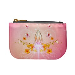 Wonderful Flowers With Butterflies And Diamond In Soft Pink Colors Mini Coin Purses by FantasyWorld7