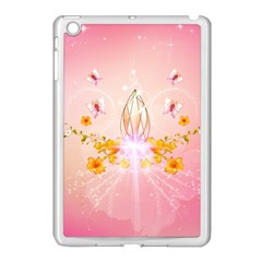 Wonderful Flowers With Butterflies And Diamond In Soft Pink Colors Apple Ipad Mini Case (white) by FantasyWorld7