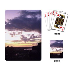 Sunset Over The Valley Playing Card