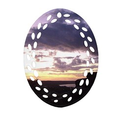 Sunset Over The Valley Ornament (oval Filigree)
