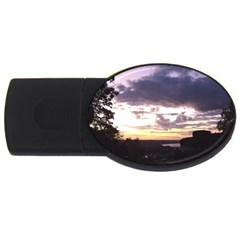 Sunset Over The Valley Usb Flash Drive Oval (2 Gb)  by canvasngiftshop