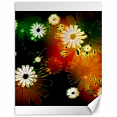 Awesome Flowers In Glowing Lights Canvas 12  X 16   by FantasyWorld7