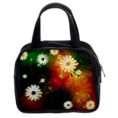Awesome Flowers In Glowing Lights Classic Handbags (2 Sides) by FantasyWorld7