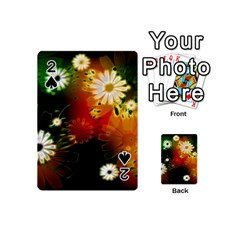 Awesome Flowers In Glowing Lights Playing Cards 54 (Mini)  by FantasyWorld7