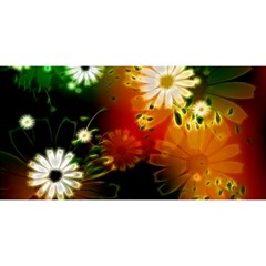 Awesome Flowers In Glowing Lights You Are Invited 3d Greeting Card (8x4)