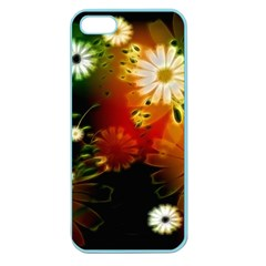 Awesome Flowers In Glowing Lights Apple Seamless Iphone 5 Case (color) by FantasyWorld7