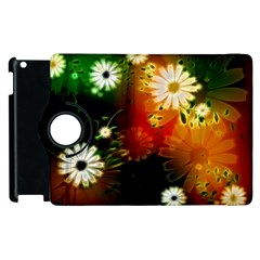 Awesome Flowers In Glowing Lights Apple Ipad 3/4 Flip 360 Case by FantasyWorld7