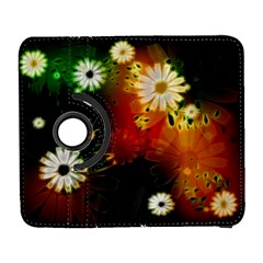 Awesome Flowers In Glowing Lights Samsung Galaxy S  III Flip 360 Case by FantasyWorld7