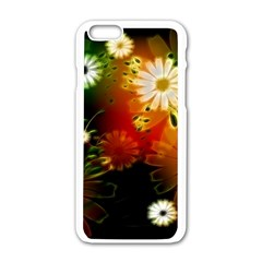 Awesome Flowers In Glowing Lights Apple Iphone 6/6s White Enamel Case