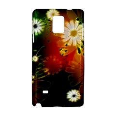 Awesome Flowers In Glowing Lights Samsung Galaxy Note 4 Hardshell Case by FantasyWorld7