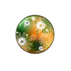 Beautiful Flowers With Leaves On Soft Background Hat Clip Ball Marker by FantasyWorld7