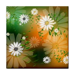 Beautiful Flowers With Leaves On Soft Background Face Towel by FantasyWorld7