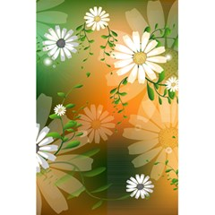 Beautiful Flowers With Leaves On Soft Background 5 5  X 8 5  Notebooks by FantasyWorld7