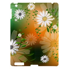 Beautiful Flowers With Leaves On Soft Background Apple Ipad 3/4 Hardshell Case by FantasyWorld7