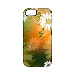 Beautiful Flowers With Leaves On Soft Background Apple Iphone 5 Classic Hardshell Case (pc+silicone) by FantasyWorld7
