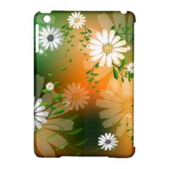 Beautiful Flowers With Leaves On Soft Background Apple Ipad Mini Hardshell Case (compatible With Smart Cover) by FantasyWorld7