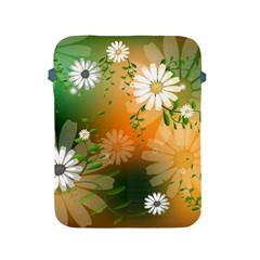 Beautiful Flowers With Leaves On Soft Background Apple Ipad 2/3/4 Protective Soft Cases by FantasyWorld7