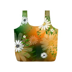 Beautiful Flowers With Leaves On Soft Background Full Print Recycle Bags (s)  by FantasyWorld7