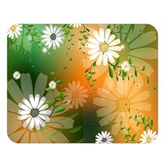 Beautiful Flowers With Leaves On Soft Background Double Sided Flano Blanket (large)  by FantasyWorld7
