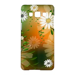 Beautiful Flowers With Leaves On Soft Background Samsung Galaxy A5 Hardshell Case  by FantasyWorld7