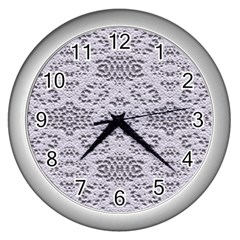 Bridal Lace 3 Wall Clocks (silver)  by MoreColorsinLife