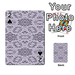 Bridal Lace 3 Playing Cards 54 Designs  by MoreColorsinLife