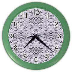 Bridal Lace 3 Color Wall Clocks by MoreColorsinLife