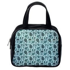 Vintage Paisley Aqua Classic Handbags (one Side) by MoreColorsinLife
