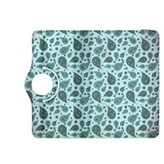 Vintage Paisley Aqua Kindle Fire HDX 8.9  Flip 360 Case by MoreColorsinLife