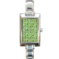 Vintage Paisley Green Rectangle Italian Charm Watches by MoreColorsinLife