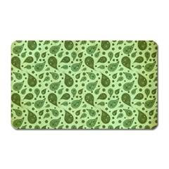 Vintage Paisley Green Magnet (rectangular) by MoreColorsinLife