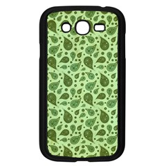 Vintage Paisley Green Samsung Galaxy Grand DUOS I9082 Case (Black) by MoreColorsinLife