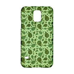 Vintage Paisley Green Samsung Galaxy S5 Hardshell Case  by MoreColorsinLife