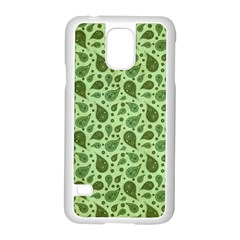 Vintage Paisley Green Samsung Galaxy S5 Case (white) by MoreColorsinLife