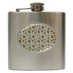 Vintage Paisley Grey Hip Flask (6 oz) by MoreColorsinLife