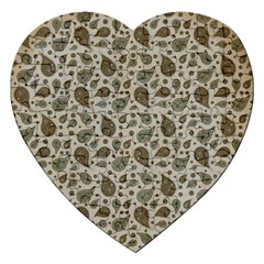 Vintage Paisley Grey Jigsaw Puzzle (heart) by MoreColorsinLife