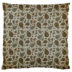 Vintage Paisley Grey Large Cushion Cases (one Side)  by MoreColorsinLife