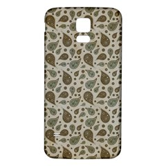 Vintage Paisley Grey Samsung Galaxy S5 Back Case (white) by MoreColorsinLife