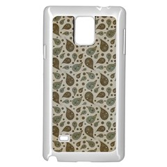 Vintage Paisley Grey Samsung Galaxy Note 4 Case (white) by MoreColorsinLife