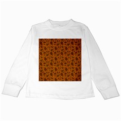 Vintage Paisley Terra Kids Long Sleeve T Shirts by MoreColorsinLife